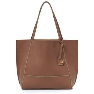 Botkier Soho leather tote with gold zipper trim